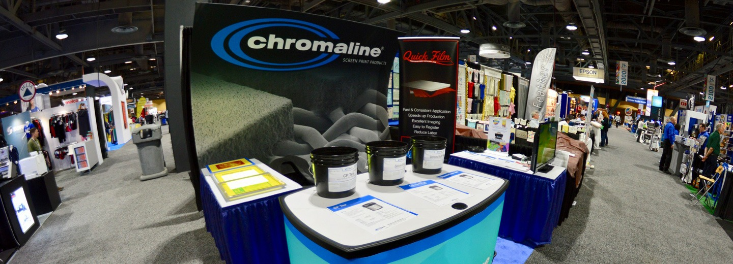 chromaline screen print products events schedule
