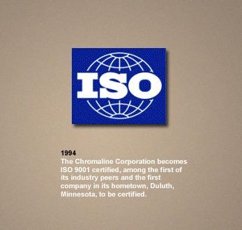 chromaline ISO 9001 certified