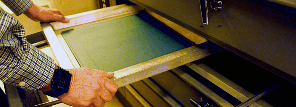 screen printing how to dry a screen