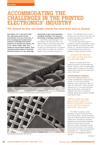 challenges in printed electronics chromaline