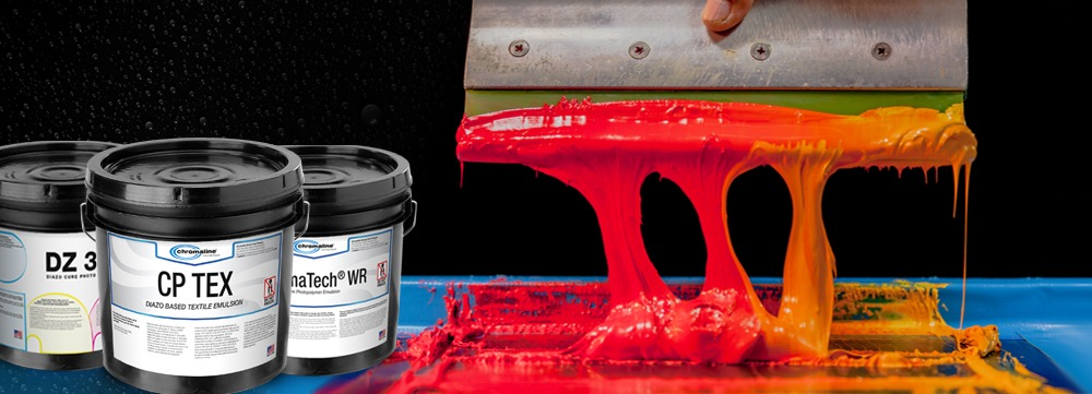 water resistant emulsions for screen printing
