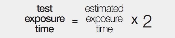 estimated exposure time formula screen printing