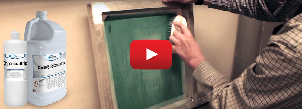 how to reclaim a screen for screen printing Chromaline